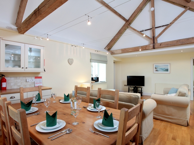 The Cow Byre Dining and Living Area